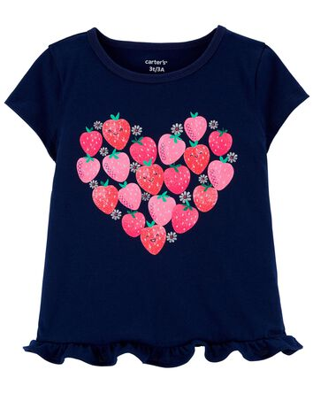 Strawberry Heart Jersey Tee