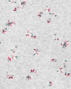 Haut en molleton fleuri, , hi-res
