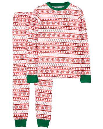 Pyjama 2 pièces en coton ajusté tem...