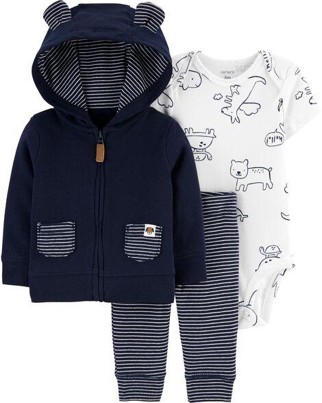 3-Piece Animals Little Jacket Set