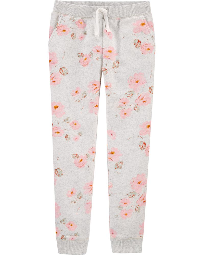 Floral Logo Fleece Pants, , hi-res