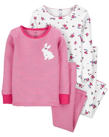 4-Piece Bunny 100% Snug Fit Cotton...
