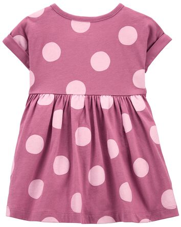 2-Piece Polka Dot Dress & Legging S...