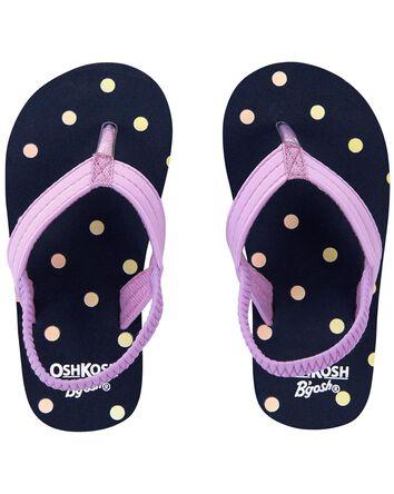 Polka Dot Flip Flops