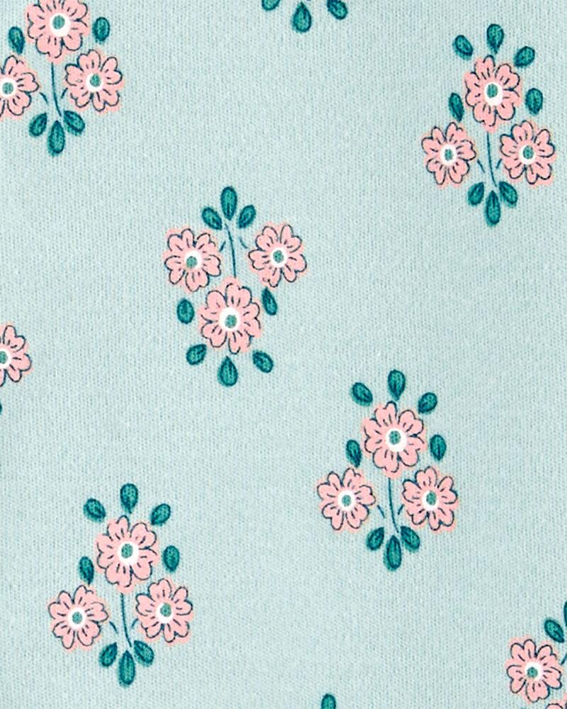 Floral Snap-Up Cotton Sleep & Play, , hi-res