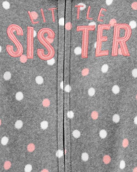 Grenouillère en molleton à glissière Sister