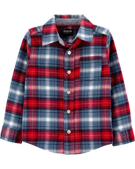 Chemise boutonnée en flanelle