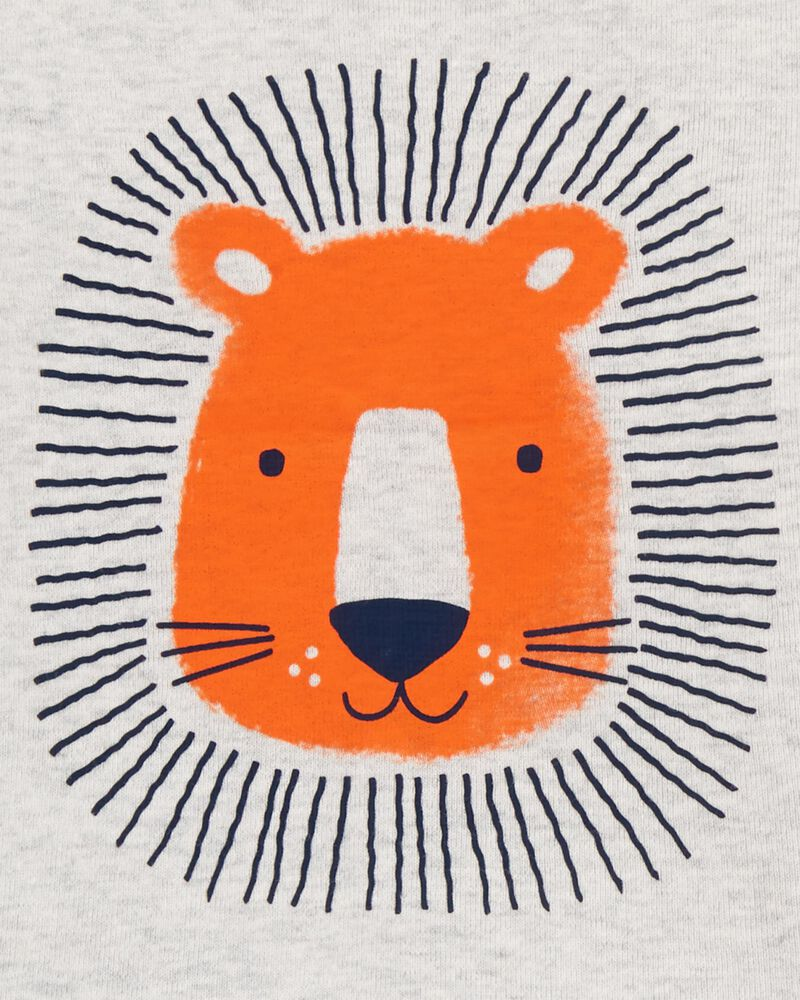 Ensemble 3 pièces chemise et short lion, , hi-res