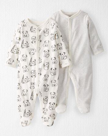 2-Pack Organic Cotton Snap-Up Sleep...
