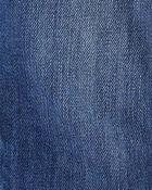 Salopette en denim d'allure usée avec doublure en jersey, , hi-res