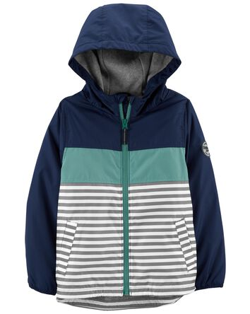 Colourblock Stripe Fleece-Lined Mid...