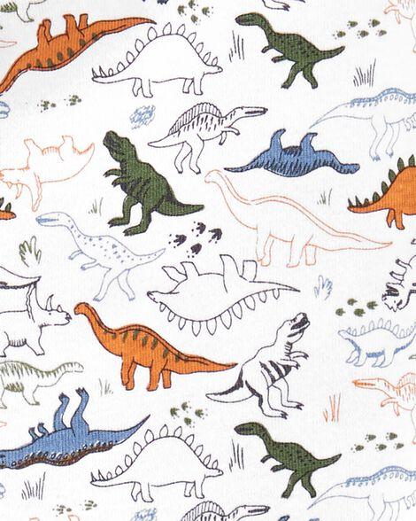 1-Piece Dinosaur Snug Fit Cotton Footie PJs