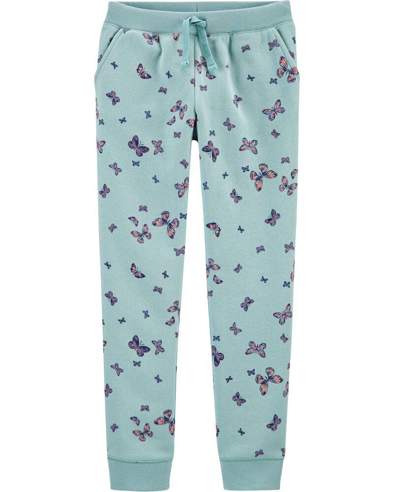 Pantalon de jogging en molleton à logo et papillon, , hi-res