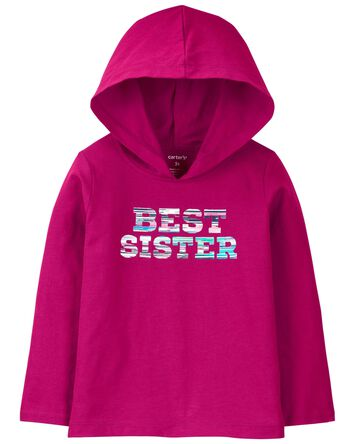 Best Sister Hooded Jersey Tee