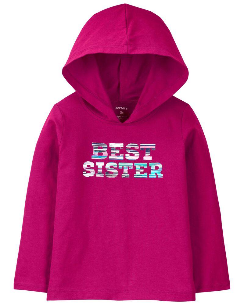 Best Sister Hooded Jersey Tee, , hi-res