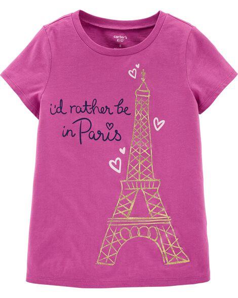 T-shirt en jersey à Tour Eiffel