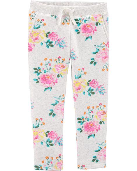 Pantalon en molleton fleuri