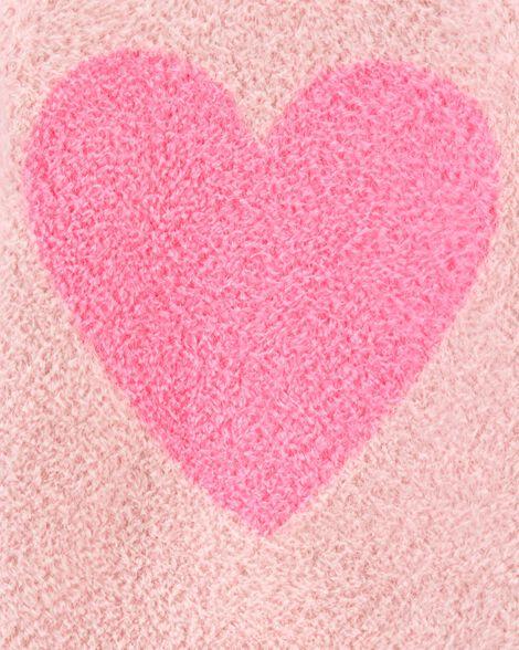 Chandail avec cœur pelucheux