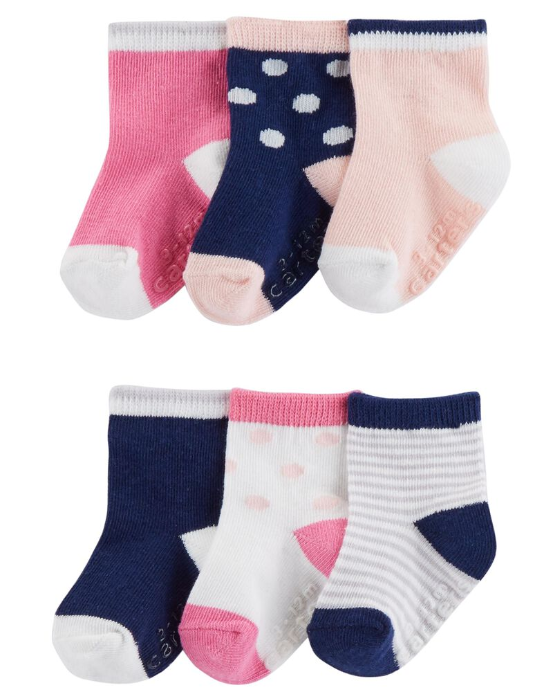 3-Pack Polka Dot Booties, , hi-res
