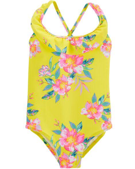 OshKosh Ruffle Floral One Piece Swimsuit