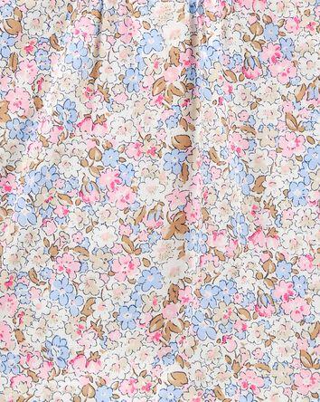 Floral Pintuck Poplin Top