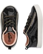 Black Slip-On Sneakers, , hi-res