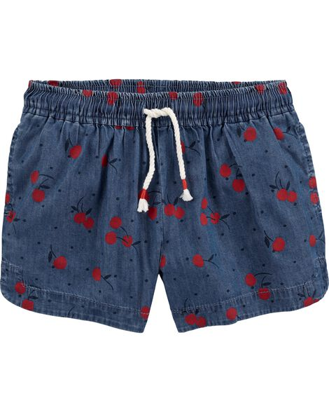 Chambray Cherry Sun Shorts