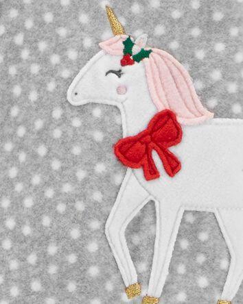 1-Piece Unicorn Fleece Footie PJs
