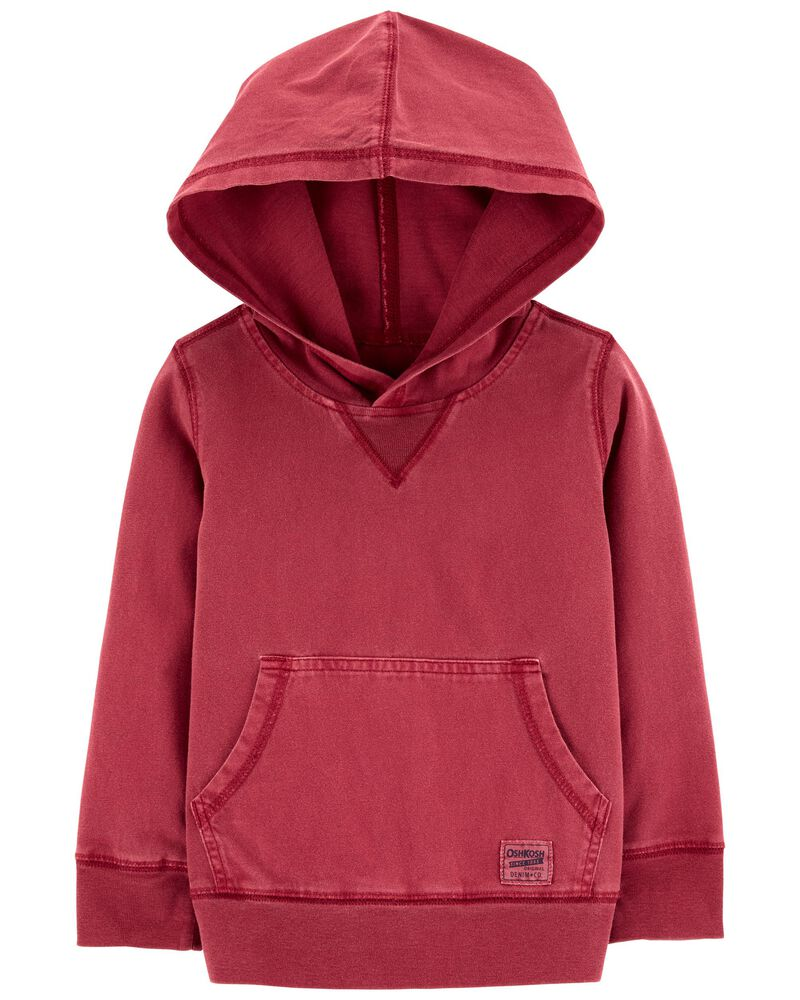 Garment-Dyed Jersey Hoodie, , hi-res