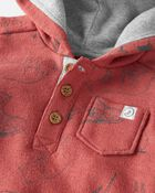Organic Cotton Hooded Sunsuit, , hi-res