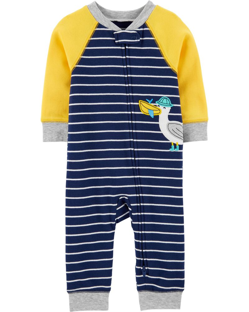 1-Piece Seagull Snug Fit Cotton Footless PJs, , hi-res