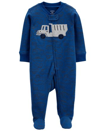 Truck 2-Way Zip Cotton Sleep & Play