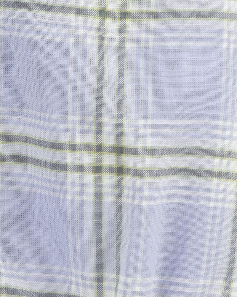 Cache-couche boutonné àmotif écossais, , hi-res
