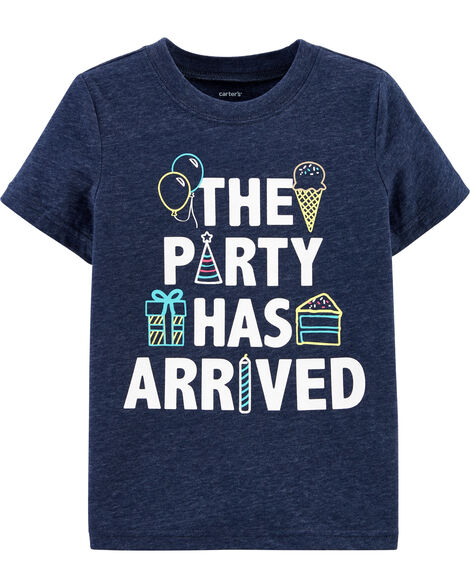 T-shirt chiné The Party Has Arrived