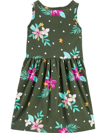 Tropical Tank Jersey Dress