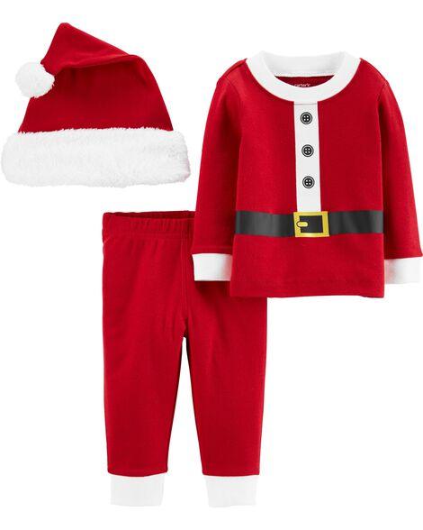 3-Piece Santa Suit & Cap Set