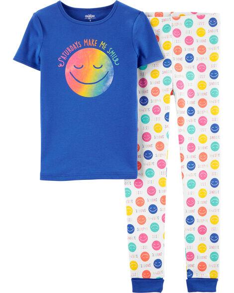 Pyjama 2 pièces en coton ajusté Saturday
