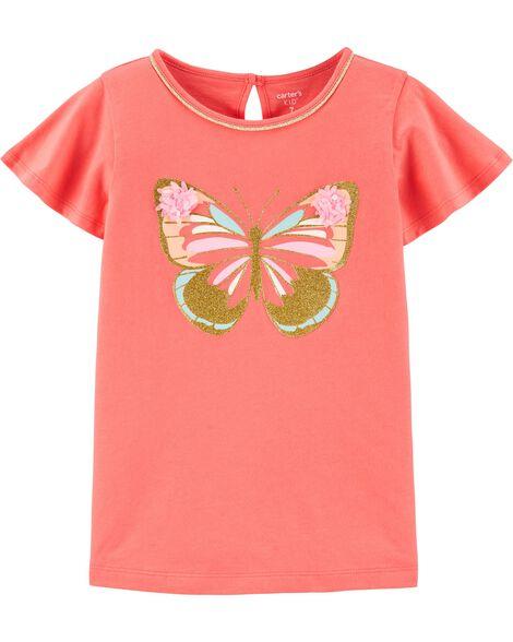 T-shirt en jersey avec papillons scintillants