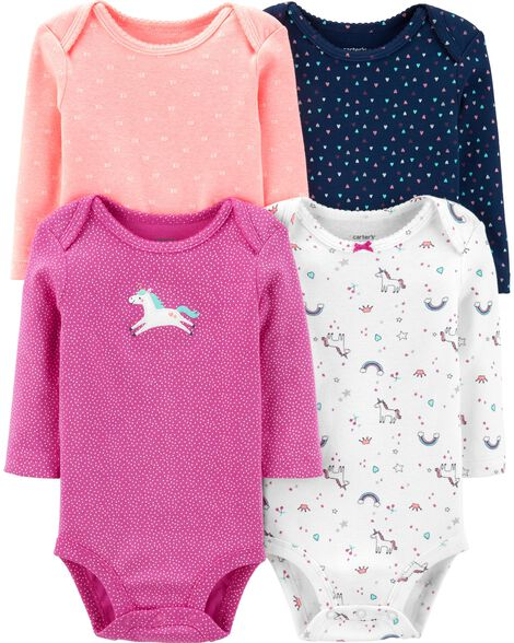 4-Pack Unicorn Original Bodysuits