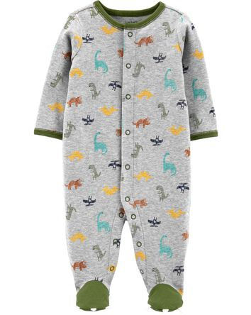 Dinosaur Snap-Up Cotton Sleep & Pla...