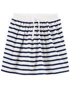 Striped Jersey Skort, , hi-res