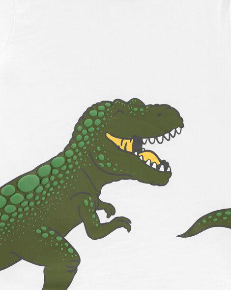 Ensemble 2 pièces t-shirt en jersey T-rex et short en jersey bouclette