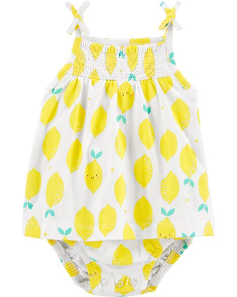 Lemon Jersey Sunsuit