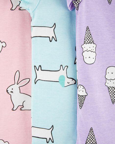 5-Pack Animal & Ice Cream Original Bodysuits