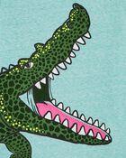 T-shirt en jersey chiné à alligator, , hi-res