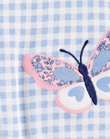 Barboteuse en coton à papillons