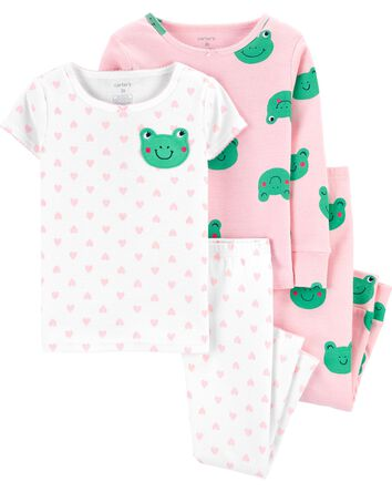4-Piece 100% Snug Fit Cotton PJs
