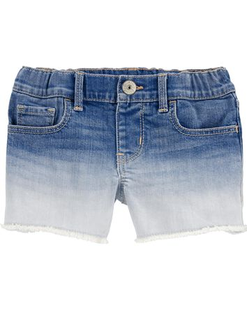 Short en denim extensible teint sur...