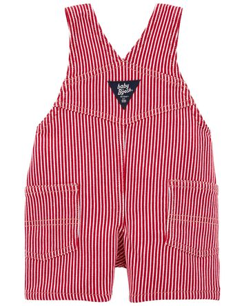 Hickory Stripe Stretch Shortalls
