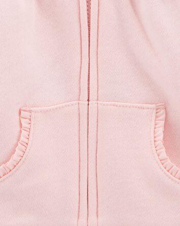 Zip-Front Fleece Cardigan
